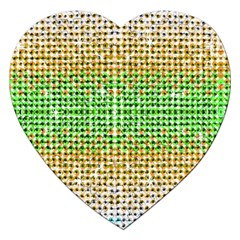 Diamond Cluster Color Bling Jigsaw Puzzle (Heart)
