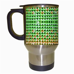Diamond Cluster Color Bling White Travel Mug