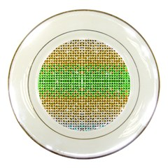 Diamond Cluster Color Bling Porcelain Display Plate