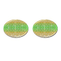 Diamond Cluster Color Bling Oval Cuff Links