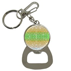 Diamond Cluster Color Bling Key Chain with Bottle Opener