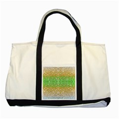 Diamond Cluster Color Bling Two Toned Tote Bag