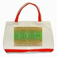 Diamond Cluster Color Bling Red Tote Bag