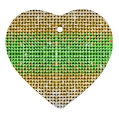 Diamond Cluster Color Bling Heart Ornament (Two Sides)