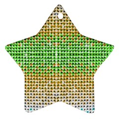 Diamond Cluster Color Bling Twin-sided Ceramic Ornament (Star)