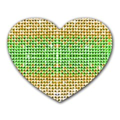 Diamond Cluster Color Bling Mouse Pad (heart)