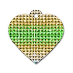 Diamond Cluster Color Bling Single-sided Dog Tag (Heart)