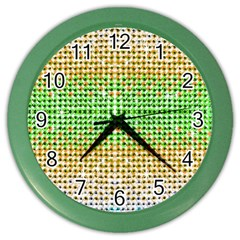 Diamond Cluster Color Bling Colored Wall Clock