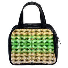 Diamond Cluster Color Bling Twin Sided Satched Handbag