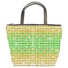Diamond Cluster Color Bling Bucket Handbag