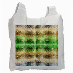 Diamond Cluster Color Bling Twin-sided Reusable Shopping Bag