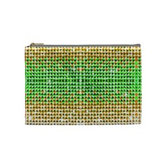 Diamond Cluster Color Bling Medium Makeup Purse
