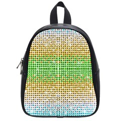 Diamond Cluster Color Bling Small School Backpack