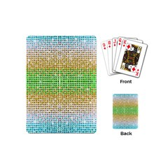 Diamond Cluster Color Bling Playing Cards (mini)