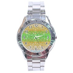 Diamond Cluster Color Bling Stainless Steel Analogue Watch (Round)