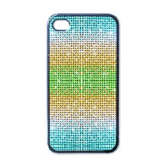 Diamond Cluster Color Bling Black Apple iPhone 4 Case