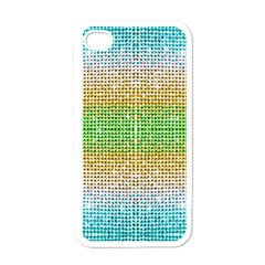 Diamond Cluster Color Bling White Apple iPhone 4 Case