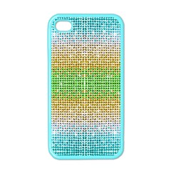 Diamond Cluster Color Bling Apple iPhone 4 Case (Color)