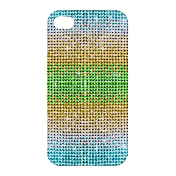 Diamond Cluster Color Bling Apple iPhone 4/4S Hardshell Case
