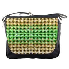 Diamond Cluster Color Bling Messenger Bag