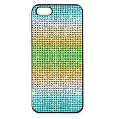 Diamond Cluster Color Bling Apple Iphone 5 Seamless Case (black)