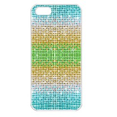 Diamond Cluster Color Bling Apple Iphone 5 Seamless Case (white)