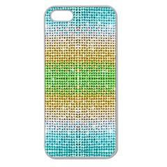 Diamond Cluster Color Bling Apple Seamless iPhone 5 Case (Clear)