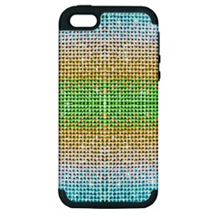 Diamond Cluster Color Bling Apple iPhone 5 Hardshell Case (PC+Silicone)