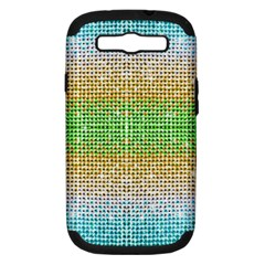 Diamond Cluster Color Bling Samsung Galaxy S III Hardshell Case (PC+Silicone)