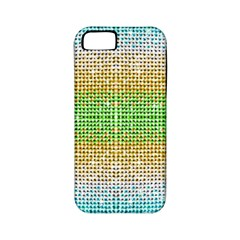 Diamond Cluster Color Bling Apple iPhone 5 Classic Hardshell Case (PC+Silicone)