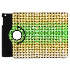 Diamond Cluster Color Bling Apple Ipad Mini Flip 360 Case