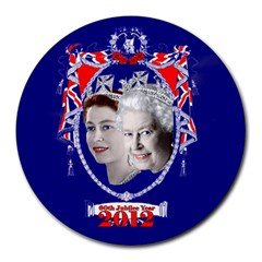 Queen Elizabeth 2012 Jubilee Year 8  Mouse Pad (Round)