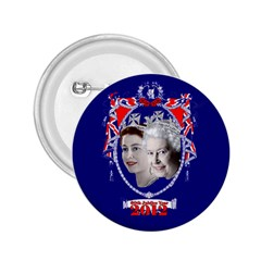 Queen Elizabeth 2012 Jubilee Year Regular Button (Round)