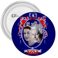Queen Elizabeth 2012 Jubilee Year Large Button (Round)