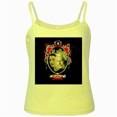 Queen Elizabeth 2012 Jubilee Year Yellow Spaghetti Top