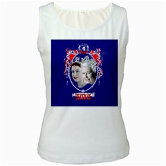 Queen Elizabeth 2012 Jubilee Year White Womens  Tank Top