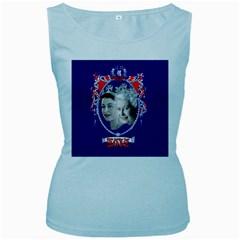 Queen Elizabeth 2012 Jubilee Year Baby Blue Womens  Tank Top