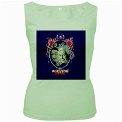 Queen Elizabeth 2012 Jubilee Year Green Womens  T-shirt