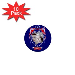 Queen Elizabeth 2012 Jubilee Year 10 Pack Mini Button (Round)
