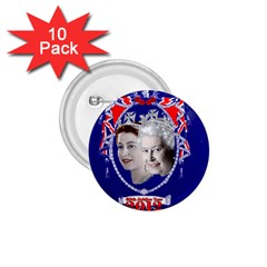 Queen Elizabeth 2012 Jubilee Year 10 Pack Small Button (Round)