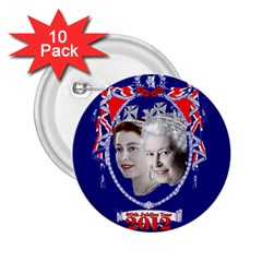 Queen Elizabeth 2012 Jubilee Year 10 Pack Regular Button (Round)