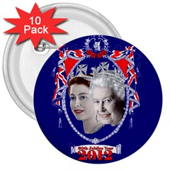 Queen Elizabeth 2012 Jubilee Year 10 Pack Large Button (Round)