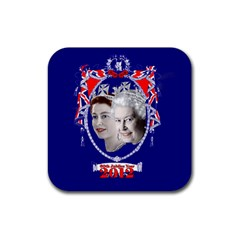 Queen Elizabeth 2012 Jubilee Year 4 Pack Rubber Drinks Coaster (Square)