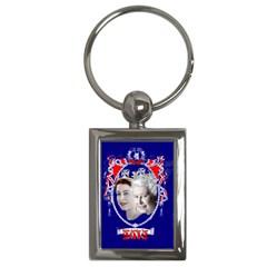 Queen Elizabeth 2012 Jubilee Year Key Chain (rectangle)