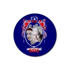 Queen Elizabeth 2012 Jubilee Year Rubber Drinks Coaster (Round)