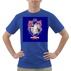 Queen Elizabeth 2012 Jubilee Year Colored Mens'' T-shirt