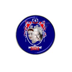 Queen Elizabeth 2012 Jubilee Year 4 Pack Golf Ball Marker (for Hat Clip)