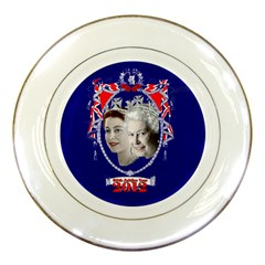 Queen Elizabeth 2012 Jubilee Year Porcelain Display Plate