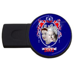 Queen Elizabeth 2012 Jubilee Year 4Gb USB Flash Drive (Round)