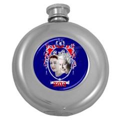 Queen Elizabeth 2012 Jubilee Year Hip Flask (Round)